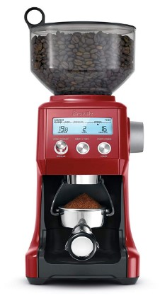 Breville BCG820CRNXL Smart Grinder, normal, Cranberry Red